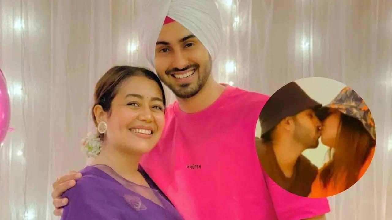 Neha Kakkar, Rohanpreet Singh lock lips as they enjoy cosy pre-wedding anniversary celebration [Pic inside]